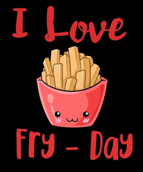 Thanksgiving Dinner Digital Art - I Love Fryday by Kaylin Watchorn