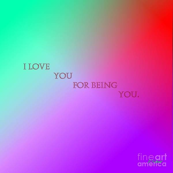 Digital Art - I Love You by Denise F Fulmer