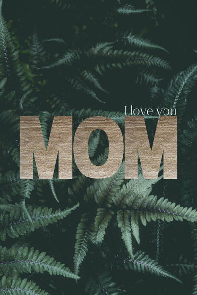 Photograph - I Love You Mom #foliage #gold by Andrea Anderegg