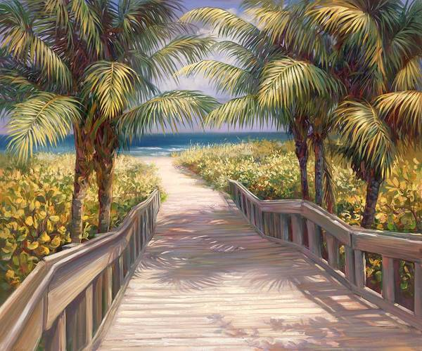Florida Beach Painting - I Need To Go To The Beach by Laurie Snow Hein