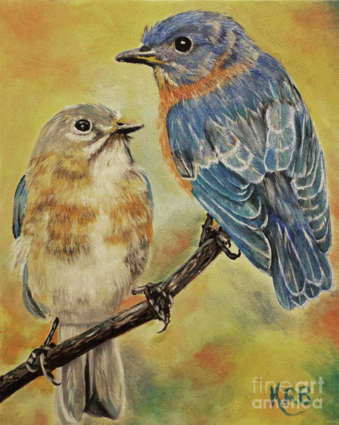 Eastern Bluebird Painting - I Only Have Eyes For You Painting by Karen Beasley
