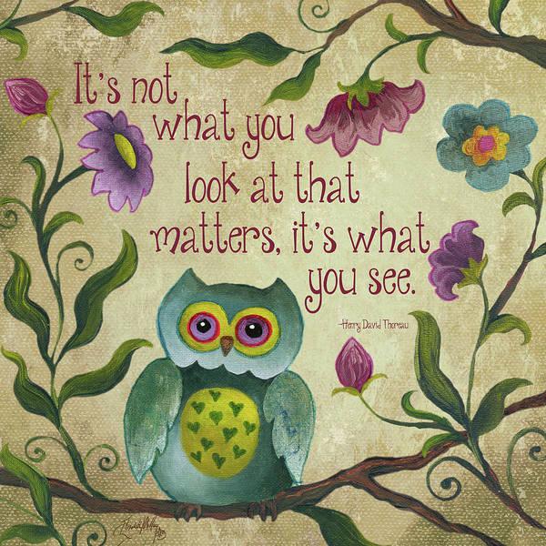 Wall Art - Painting - I Owl You I by Elizabeth Medley