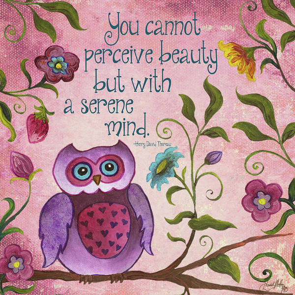 Wall Art - Painting - I Owl You II by Elizabeth Medley