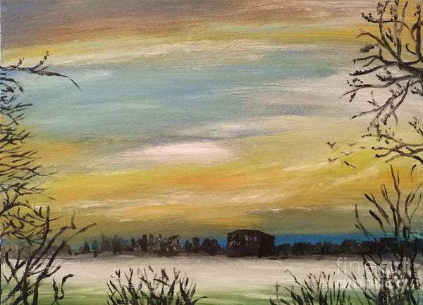 Wall Art - Painting - I See The Rising Fog by Abbie Shores