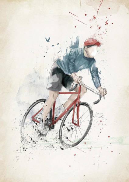 Wall Art - Mixed Media - I Want To Ride My Bicycle by Balazs Solti