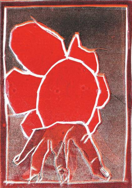 Relief - I Was Born In A Mine Woodcut 25 by Artist Dot
