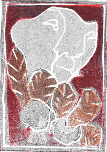 Relief - I Was Born In A Mine Woodcut 37 by Artist Dot