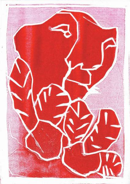 Relief - I Was Born In A Mine Woodcut 39 by Artist Dot