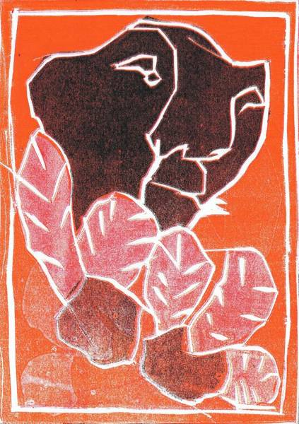 Relief - I Was Born In A Mine Woodcut 41 by Artist Dot
