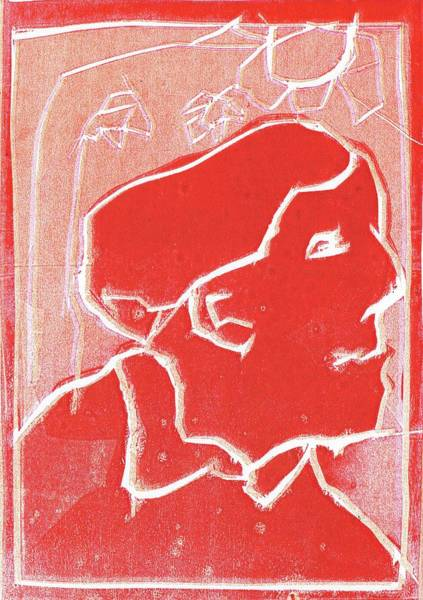 Relief - I Was Born In A Mine Woodcut 50 by Artist Dot