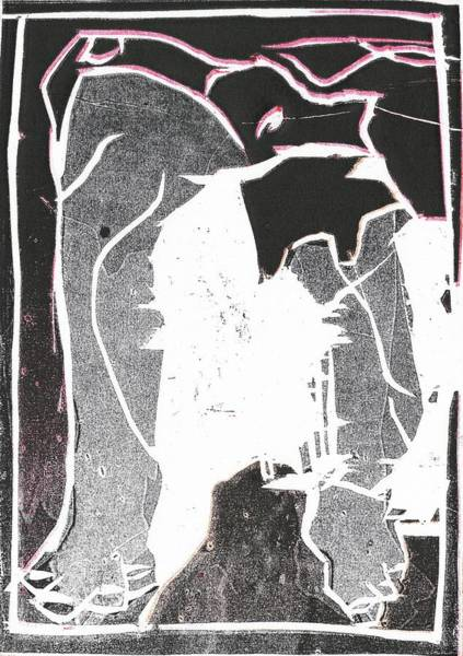 Relief - I Was Born In A Mine Woodcut 54 by Artist Dot