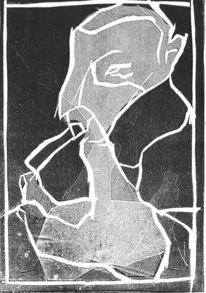 Relief - I Was Born In A Mine Woodcut 70 by Artist Dot