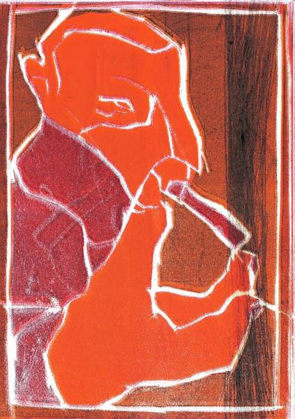 Relief - I Was Born In A Mine Woodcut 76 by Artist Dot