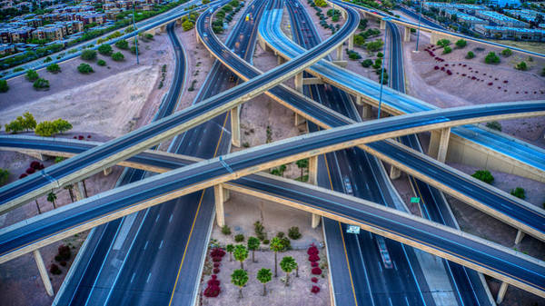 Photograph - I10 And 202 Loop Phoenix by Ants Drone Photography