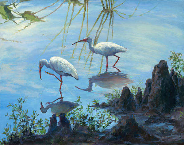 Ibis Painting - Ibis Cypress by Laurie Snow Hein