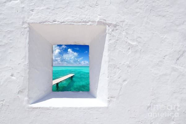 Wall Art - Photograph - Ibiza Mediterranean White Wall Window by Lunamarina