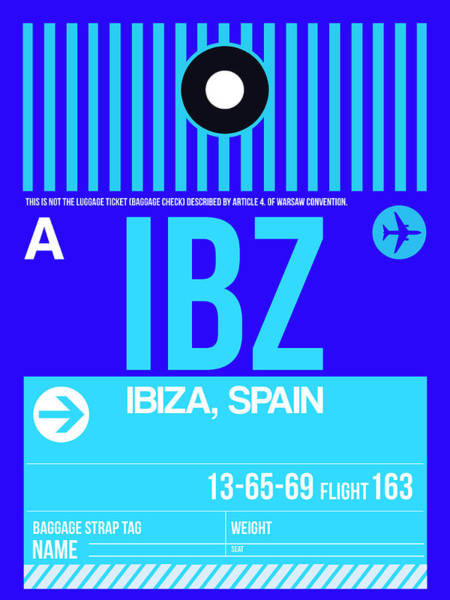 Wall Art - Digital Art - Ibz Ibiza Luggage Tag II by Naxart Studio