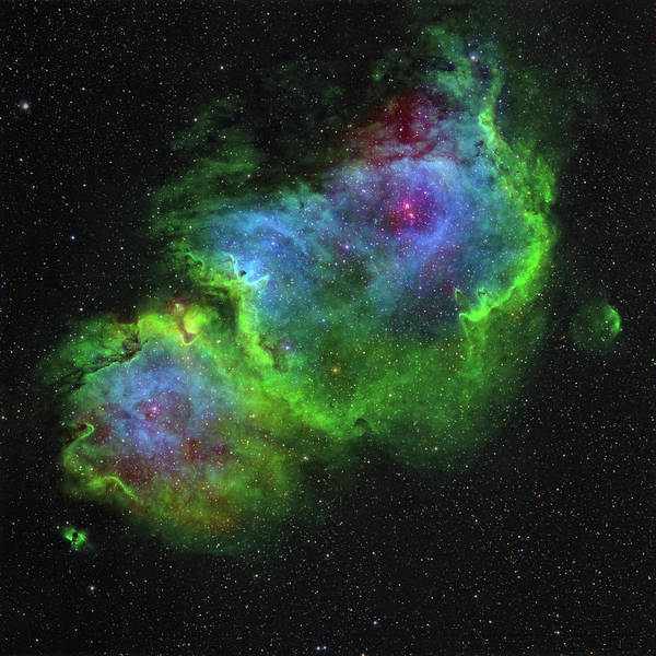 Dust Photograph - Ic 1848, The Soul Nebula In by Stocktrek Images