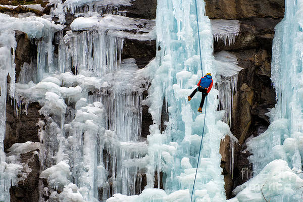 Courage Wall Art - Photograph - Ice Climbing by Alessandro Colle