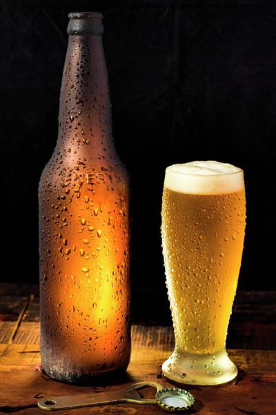 Wall Art - Photograph - Ice Cold Beer - Freshly Poured by Daniel Hagerman
