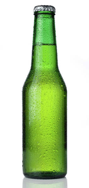 Lager Photograph - Ice Cold Bottle Of Beer Isolated On A by Lleerogers