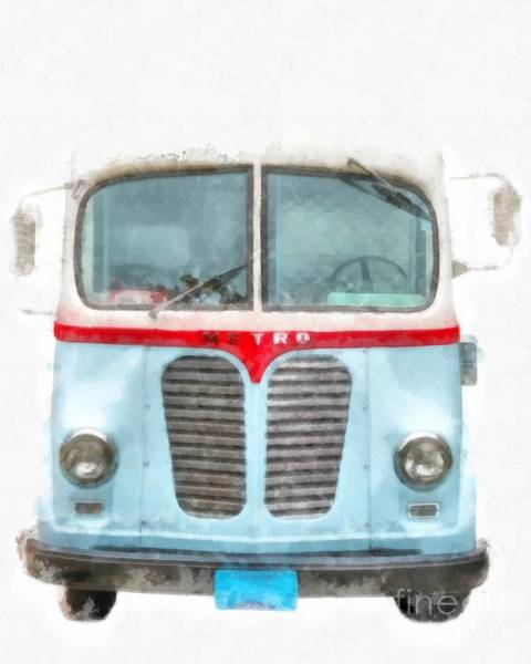 Wall Art - Digital Art - Ice Cream Food Truck Metro Van by Edward Fielding