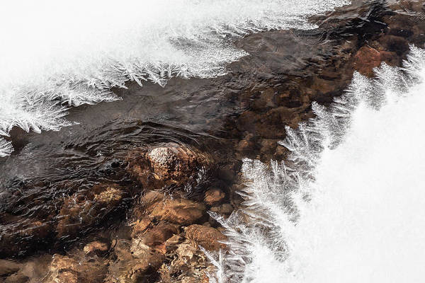 Photograph - Ice Formations On Big Thompson River by Jeanette Fellows