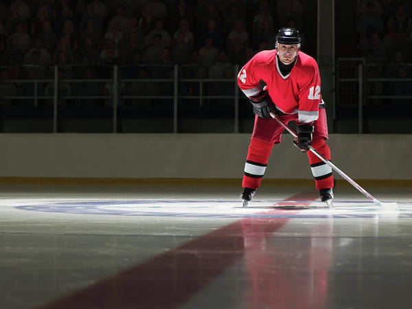 Sport Photograph - Ice Hockey Player On The Ice In Full by Ryan Mcvay