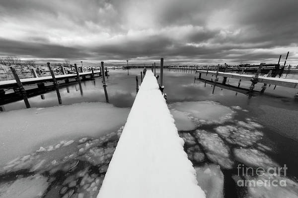 Wall Art - Photograph - Ice In The Harbor In Leland by Twenty Two North Photography