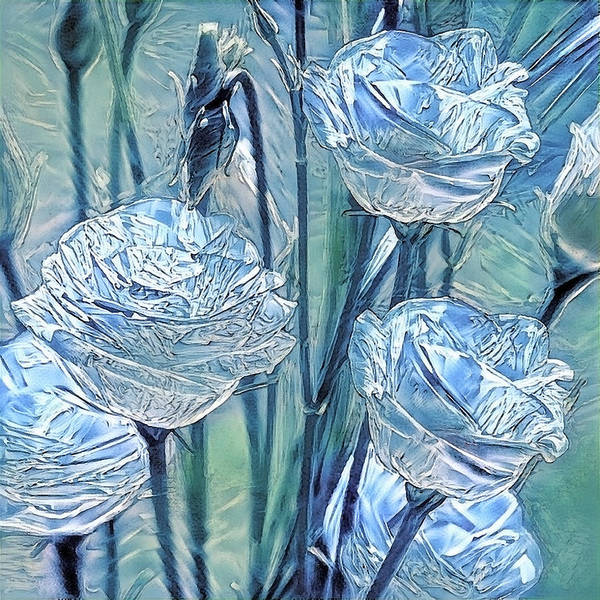 Digital Art - Ice Lisianthus by Alex Mir