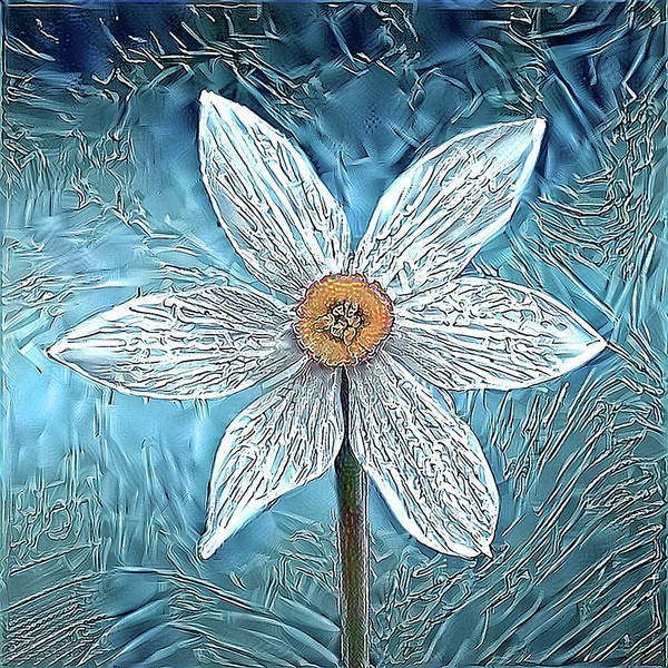 Digital Art - Ice Ornithogalum by Alex Mir
