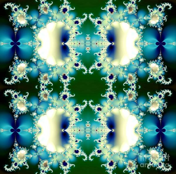 Digital Art - Ice Princess Frost Fractal Abstract by Rose Santuci-Sofranko