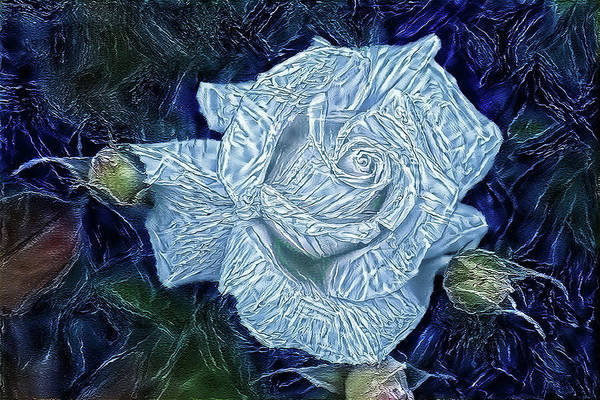 Digital Art - Ice Rose by Alex Mir