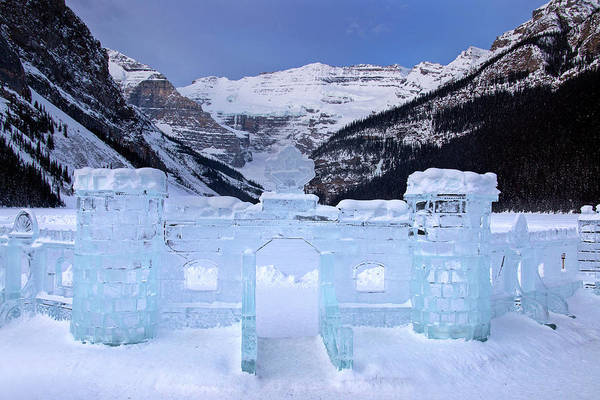 Ice Carving Photograph - Ice Sculpture Lake Louise by Mark Duffy