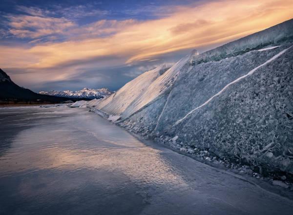 Photograph - Ice Sheets On Abraham Lake by Dan Jurak