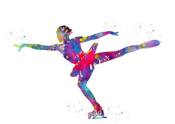Wall Art - Digital Art - Ice Skater by Erzebet S