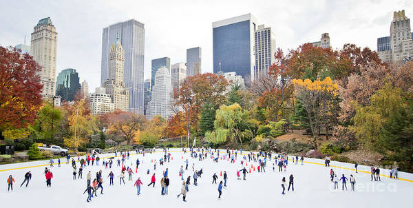 Wall Art - Photograph - Ice Skaters Having Fun In New York by Stuart Monk