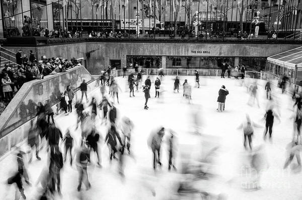 Wall Art - Photograph - Ice Skaters On The Rink New York City by John Rizzuto