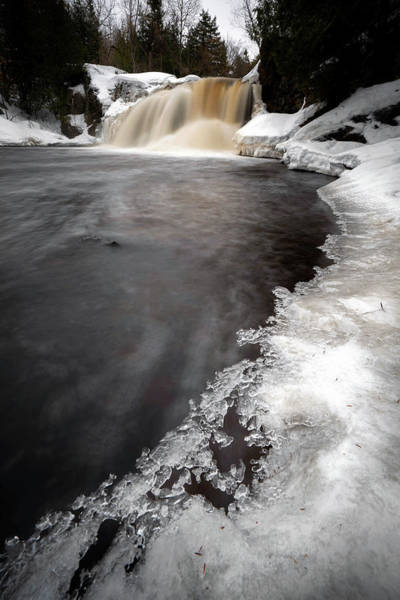 Photograph - Ice Waterfall - Tall Version by Tailor Hartman