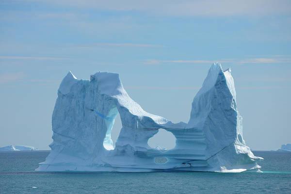 Bleached Photograph - Iceberg, Ittoqqortoormiit, Sermersooq by Raimund Linke