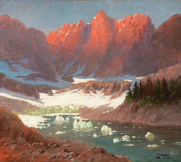 Wall Art - Painting - Iceberg Lake, Glacier Park by John Fery