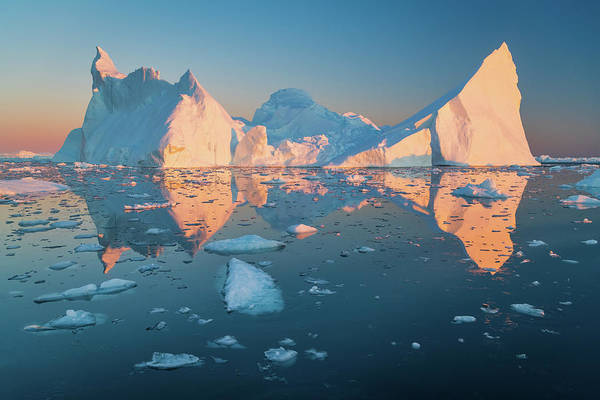 Photograph - Iceberg Reflection by Michael Blanchette
