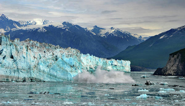 Photograph - Iceberg Splash Hubbard Glacier by Marilyn MacCrakin