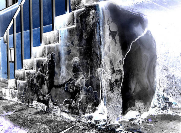 Photograph - Iceblue Concrete Destruction by Jonny Jelinek