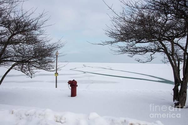 Wall Art - Photograph - Iced Lake Michigan by David Bearden