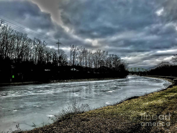 Photograph - Iced Over Erie Canal by William Norton