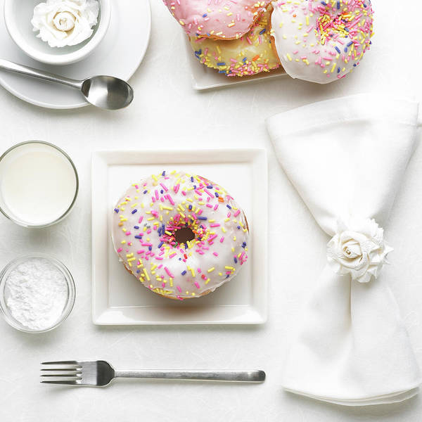 Sprinkles Photograph - Iced Ring Donut by Imstepf Studios Llc