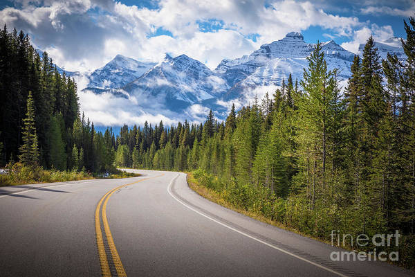 Wall Art - Photograph - Icefields Parkway Curve by Inge Johnsson