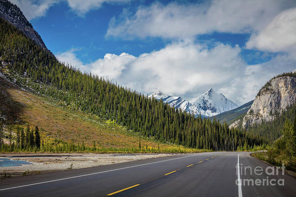 Western Canada Photograph - Icefields Parkway Mountains by Inge Johnsson
