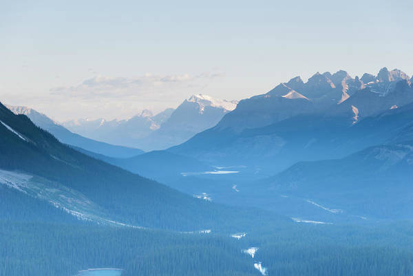 Peyto Lake Wall Art - Photograph - Icefields Pkwy, Peyto Lake & Mistaya by John Elk Iii